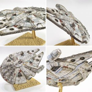 Bandai millennium falcon lighted and desert weathered!