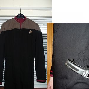 Star Trek: Nemesis / DS9 Command Jumpsuit made from wool gaberdine.