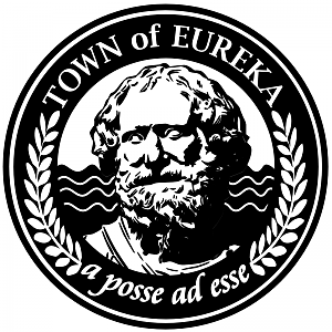 The logo for the Town of Eureka, from the SyFy tv show.