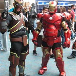Me in Iron Man and my friend as Awesome X.