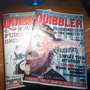 The Quibbler Magazines, still haven't finished the inside pages of the Spectrespec edition.
