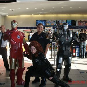My Son is Iron Man, my daughter is Black Widow. and I'm War Machine