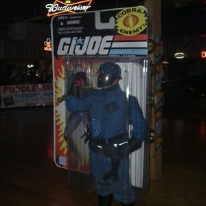 Cobra Commander. At A costume contest . won 1st