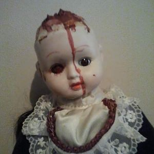 Lizzie. a doll i changed and made my own.