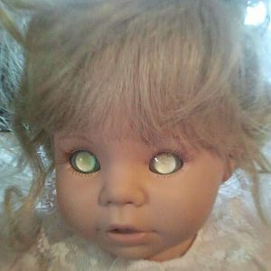 A Susan wakeen doll with eyes i bleached.