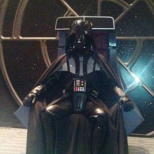 Every good Sith Lord needs to kick back and rest for a little while.