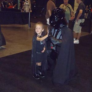 """Making friends with """"little Vader"""""""