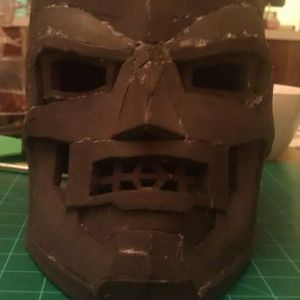 First attempt at Dr. Doom foam helmet. Gonna do a lot of work to fix the areas I messed up on my next build.