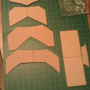 Dr. Doom foot piece template