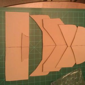 Foot piece template put together