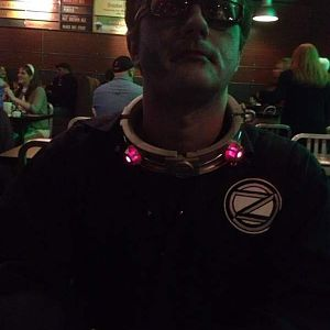 Waiting for my fleshburger at Salem Beerworks on Halloween 2012