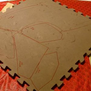 Traced and ready to start cutting...