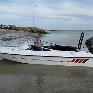 My old Fletcher Speed boat on UK South coast.