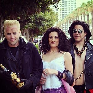 David (Jeffery Damnit), Star (ME) and Dwayne (Chris Wylie) - The Lost Boys #SDCC2013 #vampires #cosplay #thelostboys
