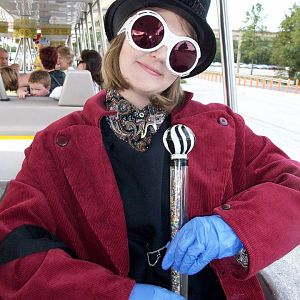 Wonka, Depp version. Making the cane was my favorite part.