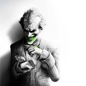 batman arkham city joker smile suit flower fan art black and white 19699 300x300