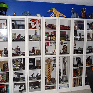 My Adam Savage inspired Ikea Billy Bookcase collection display!