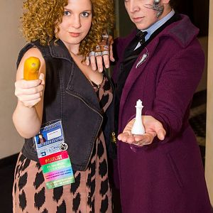 From Long Island Who, myself and my friend Lauren ( as RIver Song)