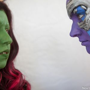 Marvel - Guardians of the Galaxy - Gamora with Nebula (http://light-as-a-heather.tumblr.com/) Northwest Fanfest 2015 photo by Clint Hay / Marmbo