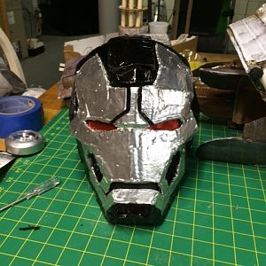 helmet after paint and eyes.