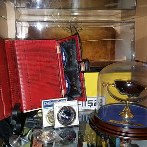 Need more space for my collection, but for now, I placed it on display behind my Booth Diary prop (museum version by Sarednab)
