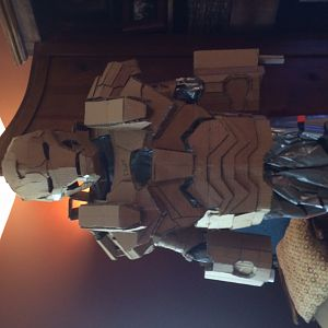 all cardboard.. free hand.. using ruler and kids measurements and a ton of help from all the RPF family.