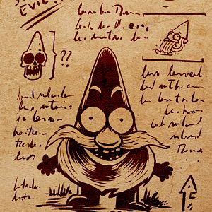 And example of a page I invented for my Gravity Falls replica. Inner pages on black and white hi res can be downloades over my site: http://elderprops