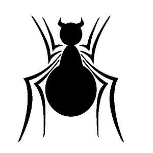 Front design spider for suit of own design ( compilations of different logos from when I was a young kid trying to draw my own costume )