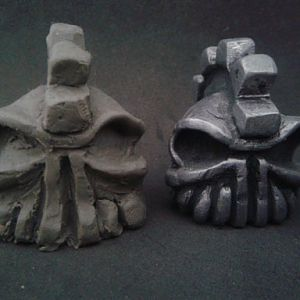 Gear Head Skull Guardian Bell