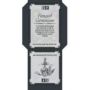 Fanged Geranium Seed Packet small