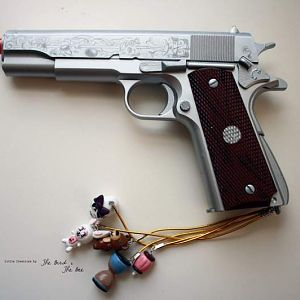 Babydoll's 1911 Pistol with Charms  Charms available at: www.oiiseau5.etsy.com
