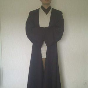 Jedi outfit (bought from thorneyboy) without saber.