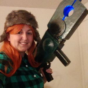 Wendy Corduroy ft. Ford Pines' Quantum Destabilizer (I've come a long way in smithing insulation foam) from Gravity Falls