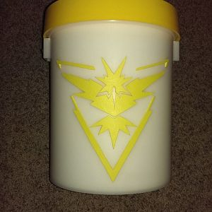 Team Instinct logo done by printing out the symbol on computer paper, cutting it out for use as a stencil, then tracing and cutting craft foam and att