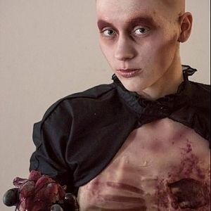 Bloody Valentine  hand made bald cap and sculpted chest piece
