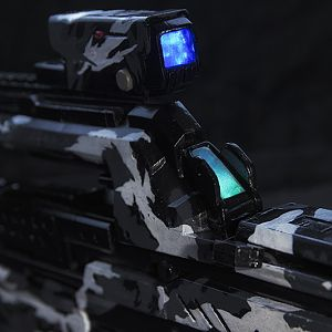 Halo 4 BR85HB-SR - Gamestop Exclusive Arctic Camo Scheme with visible illuminations