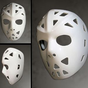 The Buffalo Mask - worn by Dave Dryden.  Dave Dryden wore this mask while playing with the Buffalo Sabres from 1970 to 1974.