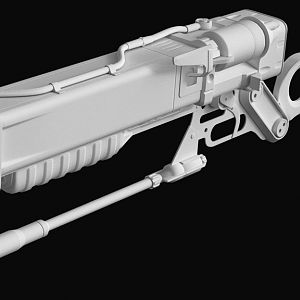 Fallout 4 Laser Rifle Base - View 1