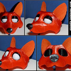 3d printed puppet head movable eyelids
