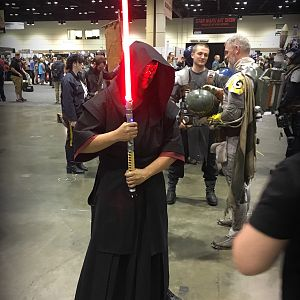 Full Sith Samurai cosplay commission I designed and made from scratch.