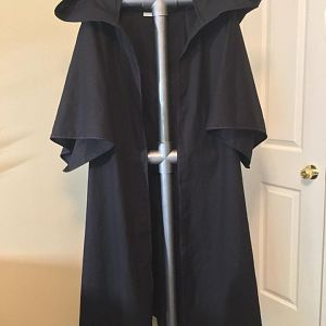 Commissioned outer robe with large voluminous hood meant to go over a Buy'ce (Mandalorian helmet) and half length sleeves.