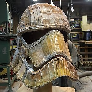 2.  West Systems Epoxy applied to pepakura helmet.