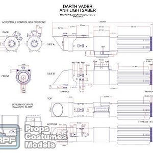 DARTH SABER ANH Vader saber blueprint