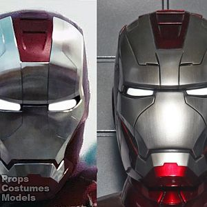 Mark V Helmet Movie vs SDCC Differences