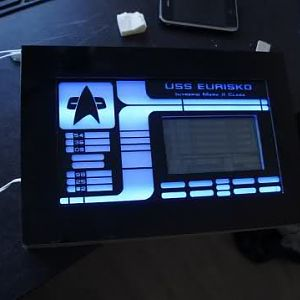 the custom touchscreen LCARS fan controller i built to control all the fans for the watercooling