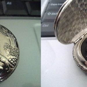 seen in Silver Nemesis and made from the same type of watch only in silver not gold.