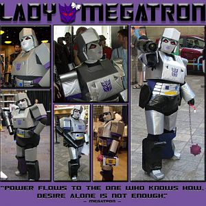 Lady Megatron, aka Meg, from BotCon 2010 and beyond...
