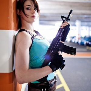 Lara with M4A1 2  By Rob Dunlop