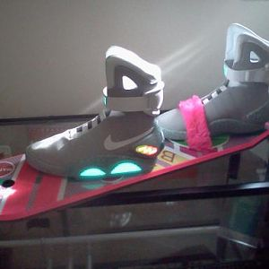 Nike Mags on the Hoverboard.