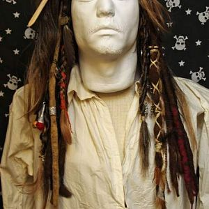 Jack Sparrow OST wig front